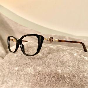 Versace Medusa Tortoise Gold Eyeglasses Frames